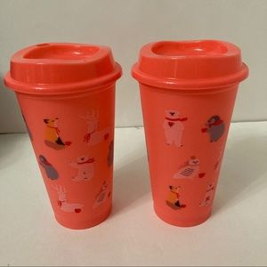 Starbucks Holiday Hot Reusable Cups Bears Deers